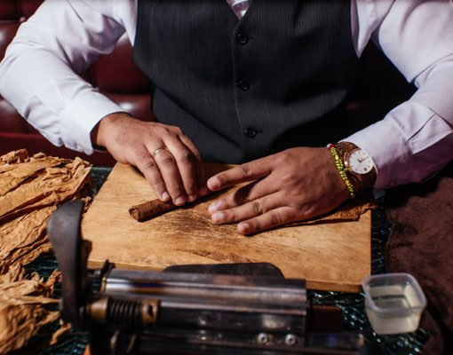 Corporate Event Enhancement: Cigar Rollers